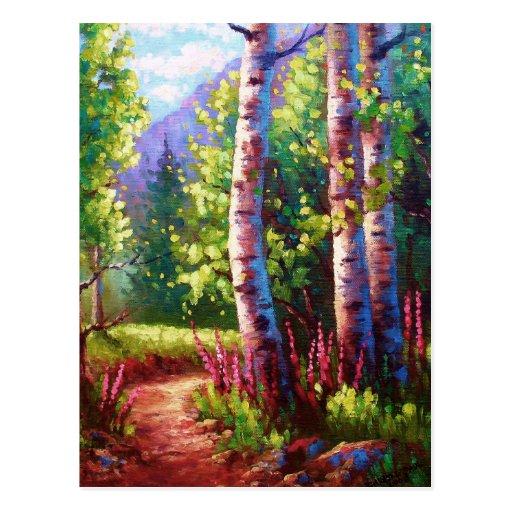 Spring Path Postcard