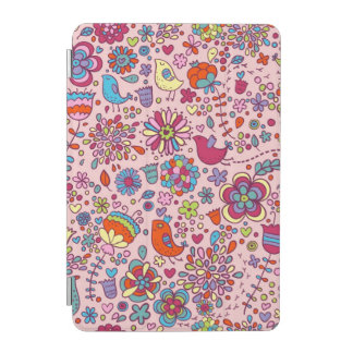 Spring pattern with colorful flowers iPad mini cover