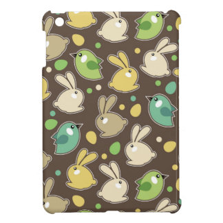 spring pattern with easter eggs,birds case for the iPad mini