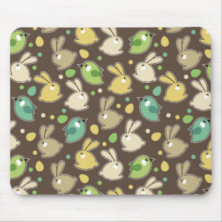 spring pattern with easter eggs,birds mouse pad