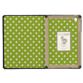 Spring pattern with white polka dots iPad mini cover