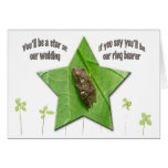 Spring Peeper (Pseudacris crucifer) Ring Bearer Greeting Card