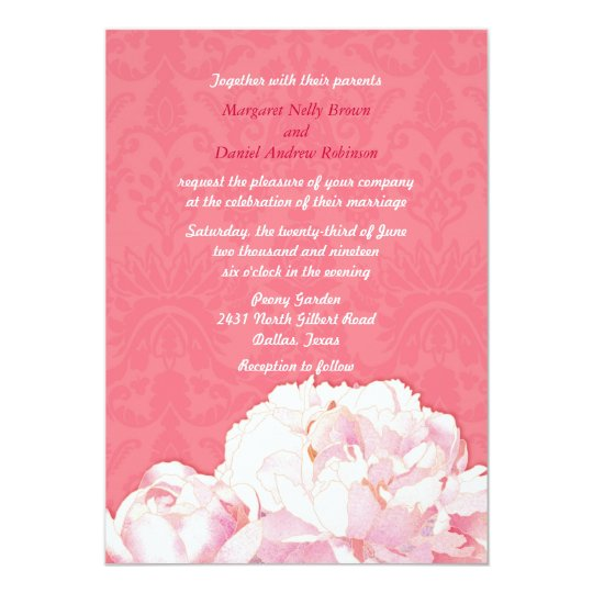 Pink Wedding Invitations & Announcements