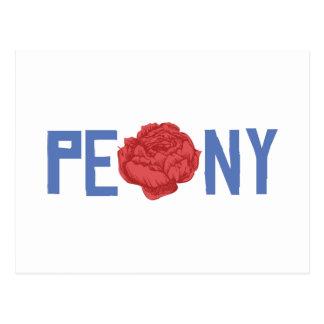 Spring Peony Postcard