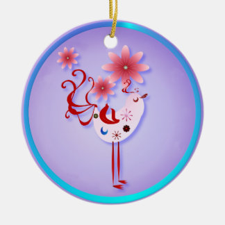 Spring Pink Bird Of Happiness  Necklace Christmas Ornament