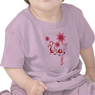 Spring Pink Bird Of Happiness Tee Shirt
