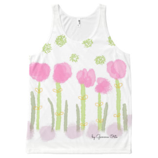 Spring pink Custom All-Over Printed Unisex Tank All-Over Print Tank Top