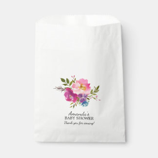 Spring Pink & Purple Floral BABY Shower Favor Bags