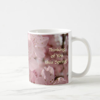 Spring Pink Tree Blossoms Coffee Cups gifts Mug