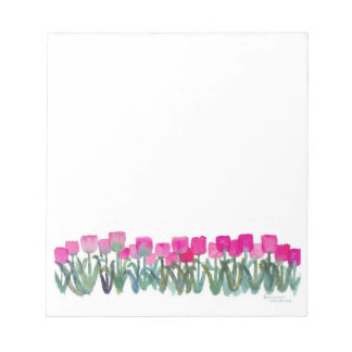 "Spring Pink Tulips 5.5"" x 6"" Notepad - 40 pages"