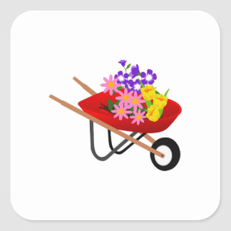 SPRING PLANTING SQUARE STICKER