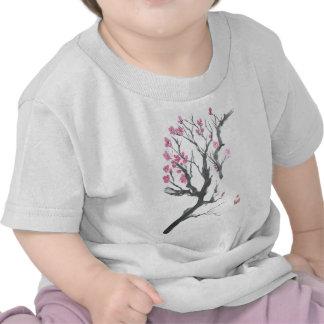 Spring Plum Blossom Branch Art Tshirts