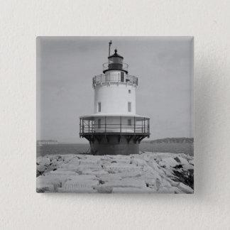 Spring Point Ledge Lighthouse 15 Cm Square Badge
