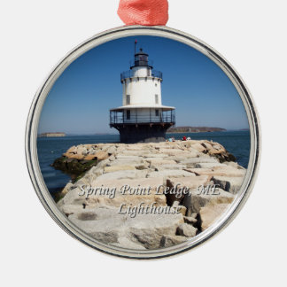 Spring Point Ledge Lighthouse Christmas Ornament