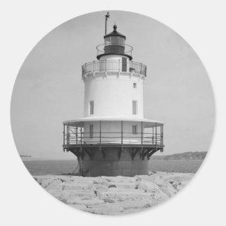 Spring Point Ledge Lighthouse Round Sticker