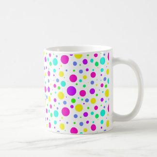 Spring Polka Dots Basic White Mug