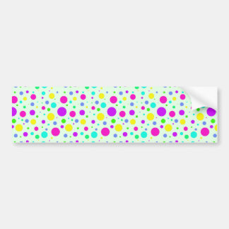 Spring Polka Dots Bumper Sticker