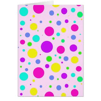 Spring Polka Dots Greeting Card