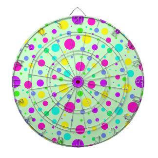 Spring Polka Dots Dart Board