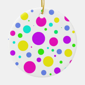 Spring Polka Dots Christmas Ornament