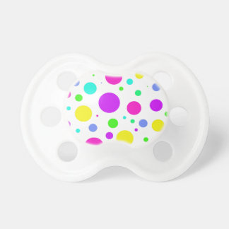 Spring Polka Dots Baby Pacifiers