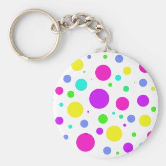 Spring Polka Dots Key Chains