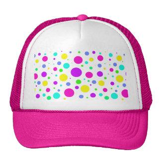 Spring Polka Dots Mesh Hats