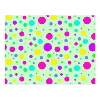 Spring Polka Dots Postcard