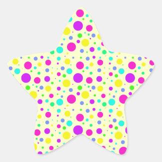 Spring Polka Dots Star Sticker