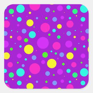 Spring Polka Dots Square Sticker