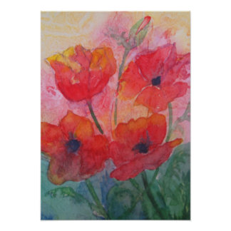 Spring Poppies Poster
