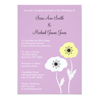 Spring Poppies Wedding Invitation
