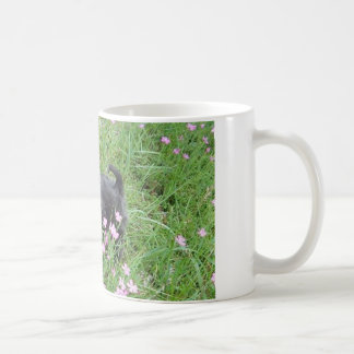 Spring puppy coffee mug