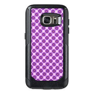 Spring purple flowers, light purple background OtterBox samsung galaxy s7 case
