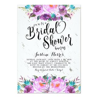 Spring Purple  Summer Bridal Shower Invitation