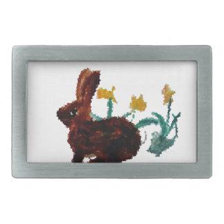 Spring Rabbit Daffodil Art Belt Buckles