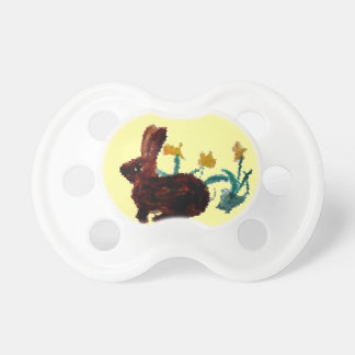 Spring Rabbit Daffodil Art Pacifier