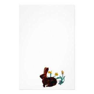 Spring Rabbit Daffodil Art Stationery