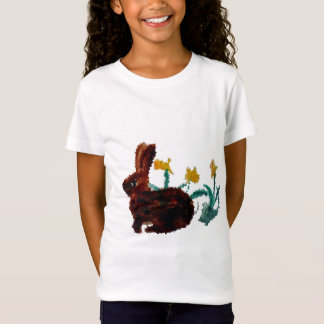 Spring Rabbit Daffodil Art T-Shirt
