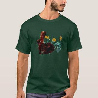 Spring Rabbit Daffodil Art T-Shirt