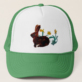 Spring Rabbit Daffodil Art Trucker Hat