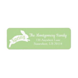 Spring Rabbit Silhouette Family Name