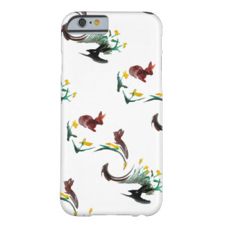 Spring Rabbits Floral Animal Art Barely There iPhone 6 Case