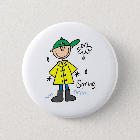 Spring Rain  6 Cm Round Badge