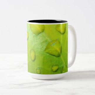 Spring Rain Abstract Two-Tone Coffee Mug