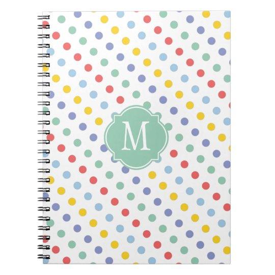 Spring Rainbow Monogram Notebook