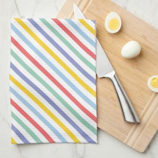 Spring Rainbow Stripe Pattern Towel