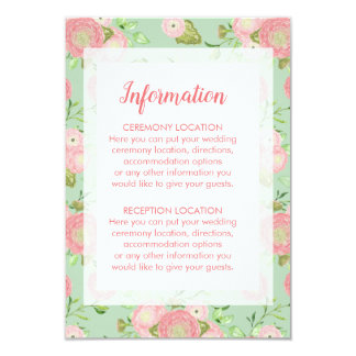 Spring Ranunculus Floral Wedding Information Cards