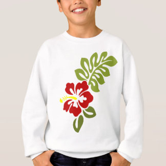 Spring Red Digital Art Hibiscus Flower Sweatshirt