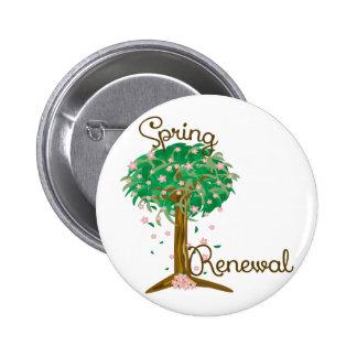 Spring Renewal 6 Cm Round Badge